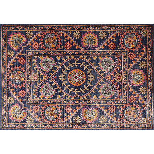 Sander Rug, Dark Blue/Multi