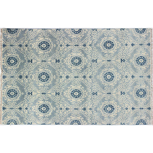 Maddox Hand-Knotted Rug, Light Blue