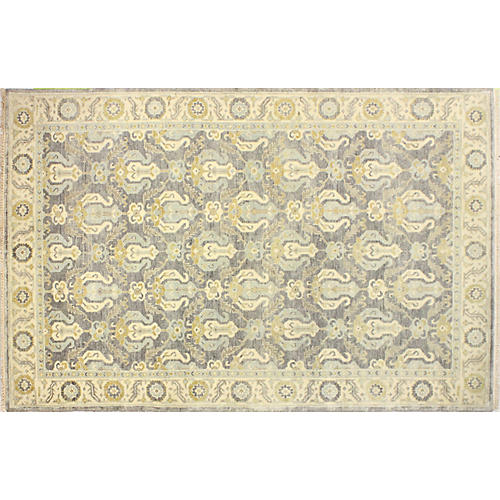 Rendi Hand-Knotted Rug, Gray