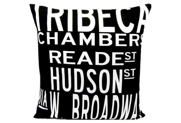 TriBeCa 20x20 Pillow, Black