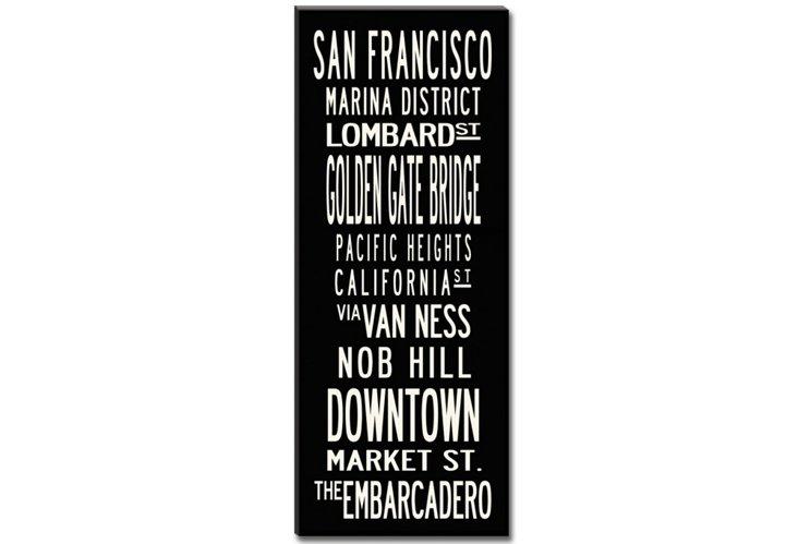 San Francisco Canvas, Black