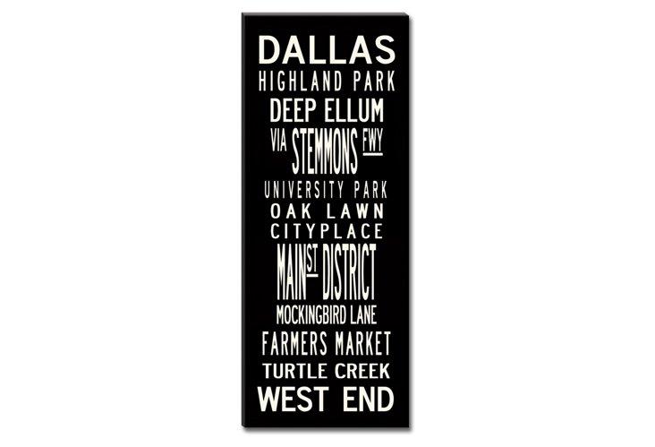 Dallas Canvas, Black