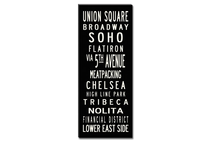Union Square Canvas, Black
