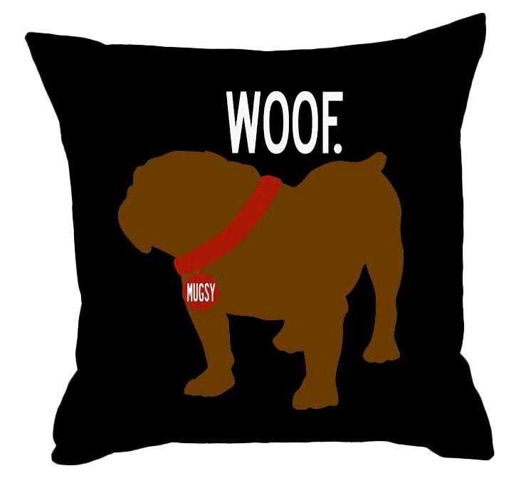 Bulldog 20x20 Pillow, Black