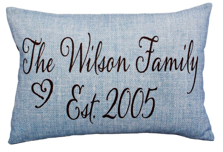 Family 14x20 Pillow, Blue