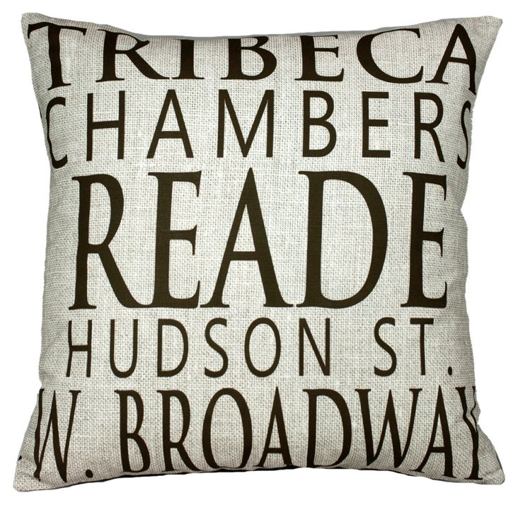 TriBeCa 20x20 Pillow, Linen