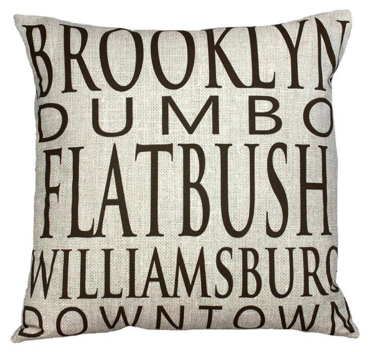 Downtown Brooklyn 20x20 Pillow, Linen