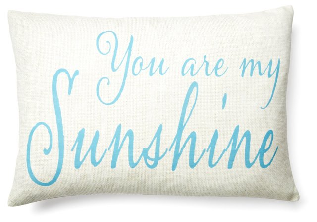 """Sunshine"" 14x20 Pillow, Sky Blue"
