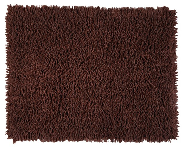 Olomana Shag Rug, Dark Brown