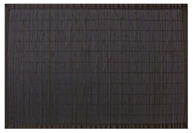 Makalu Bamboo Rug, Black