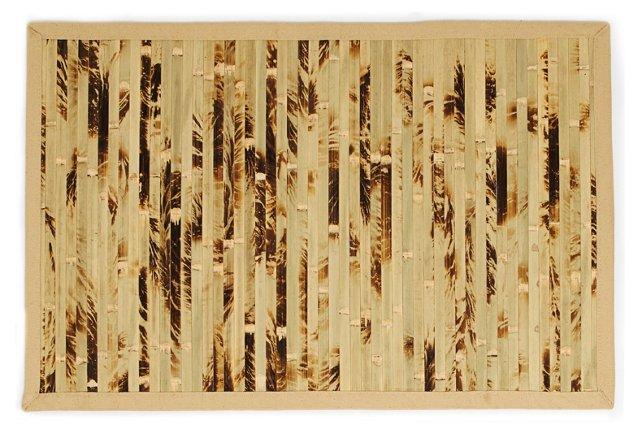 Cobblestone Bamboo Rug, Brown