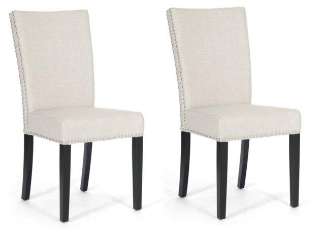Beige Harrowgate Dining Chairs, Pair