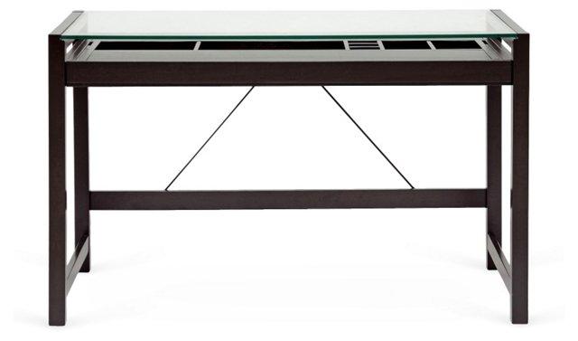 DNU, O-Harris Glass-Top Desk,