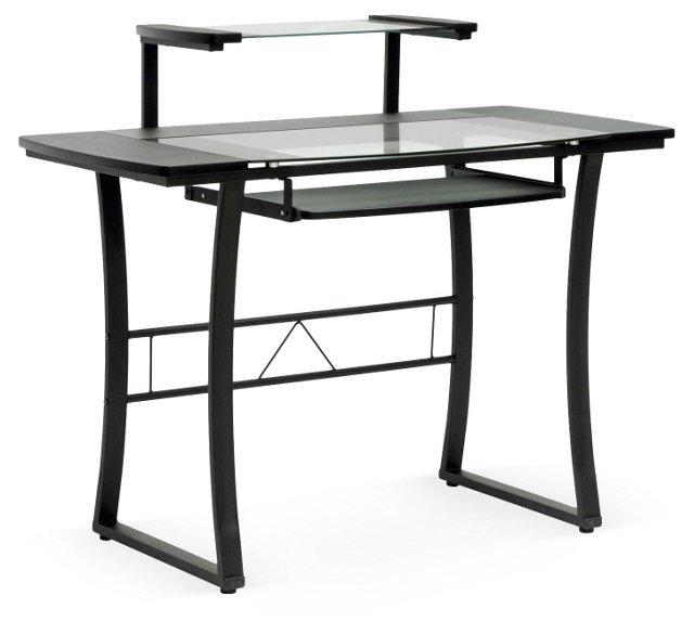 Hamilton Glass-Top Desk