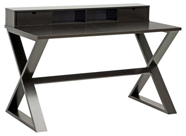 "Marshall 52"" Writing Desk, Dark Espresso"