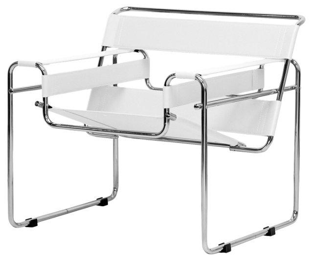 *IK Jericho Modern Accent Chair, White