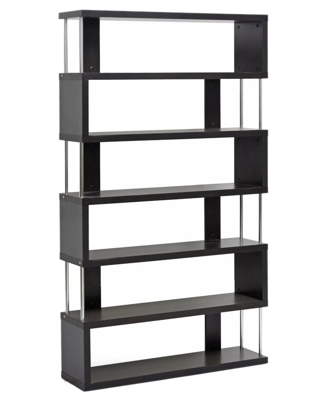 Zigzag Display Shelf, Espresso/Silver