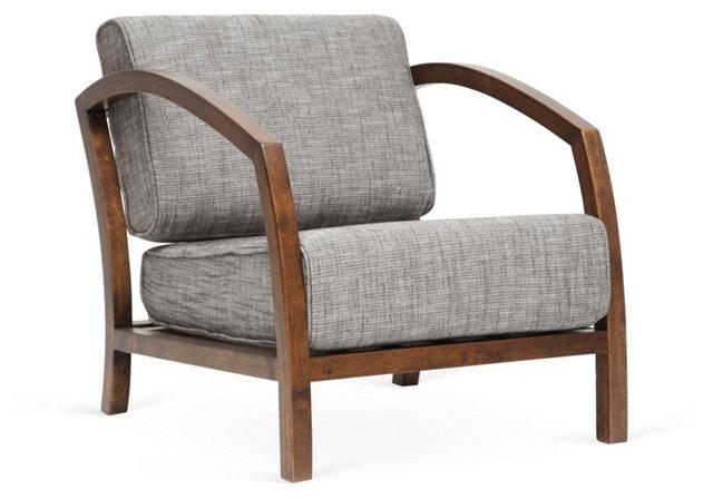 Velda Accent Chair, Gray/Brown