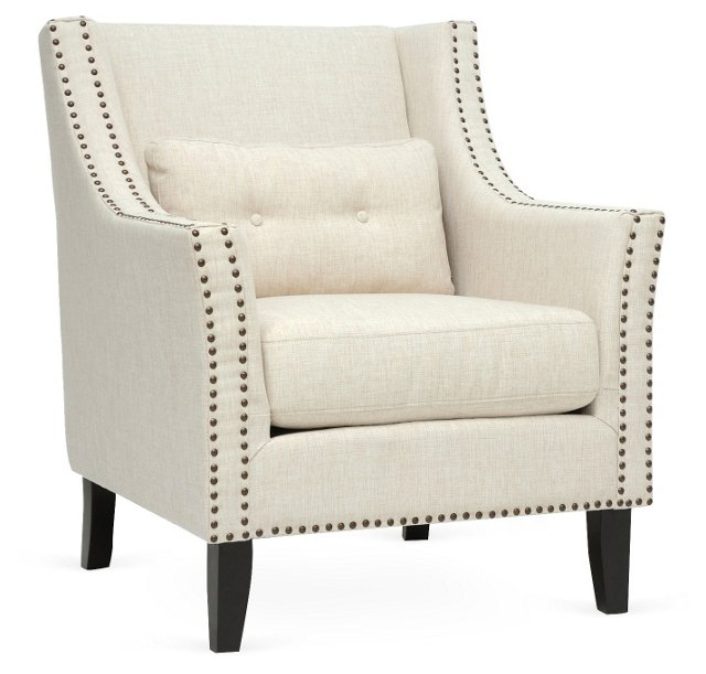 Albany Lounge Chair, Ivory