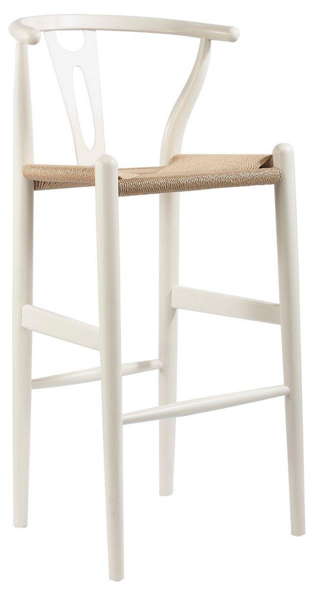 DNU, IK-Ryann Wishbone Stool, White