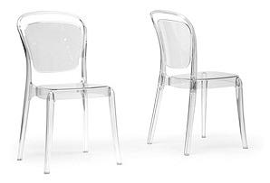 Clear Stewart Chairs, Pair