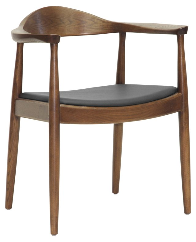 Mollie Dining Chair, Walnut/Espresso