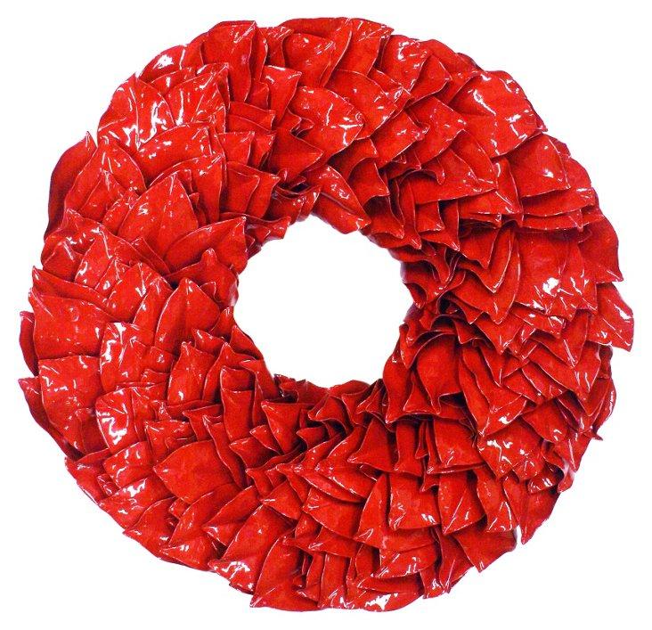 """18"""" Magnolia Wreath, Dried"""