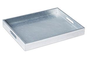 "19"" Rectangular Tray, Silver"