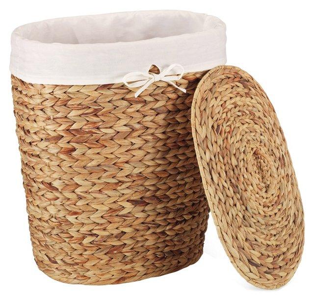 Water Hyacinth Basket w/ Liner