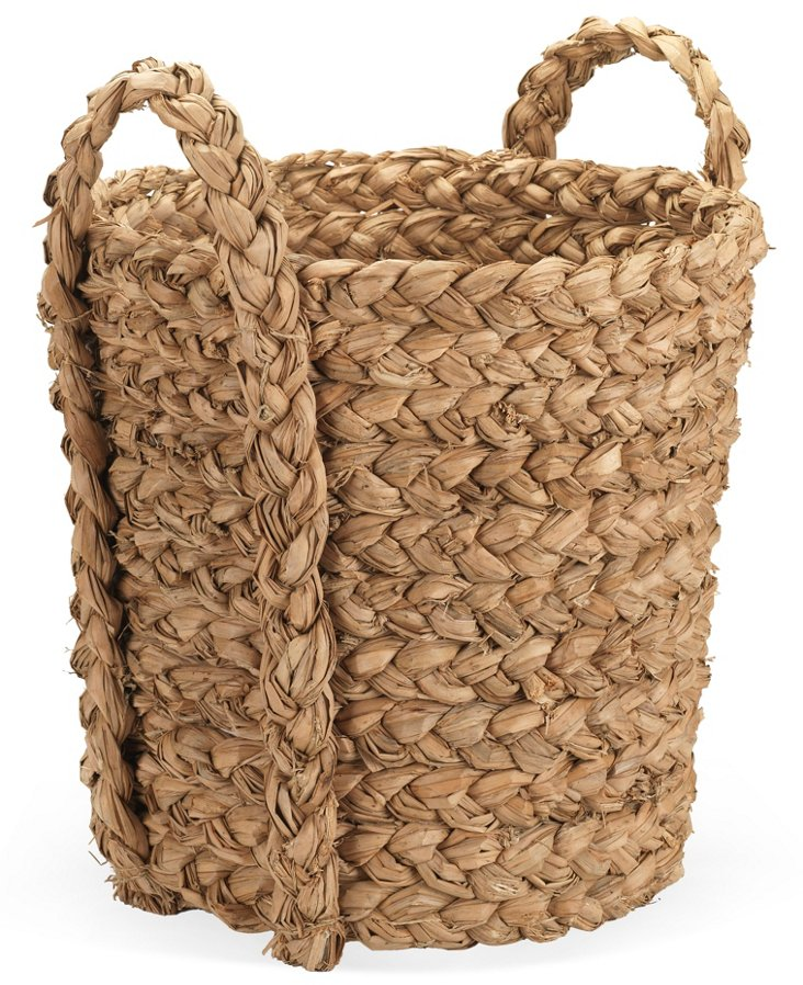 Cattail-Leaf Storage Basket
