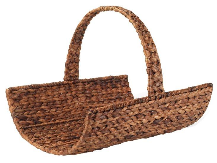 Water-Hyacinth Basket, Brown