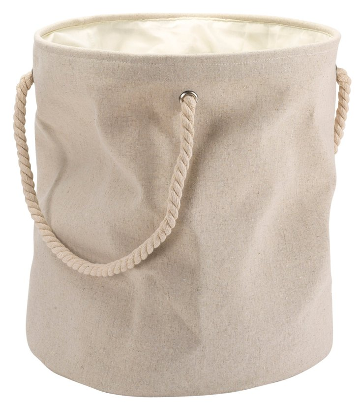 Linen Laundry Bag, Natural