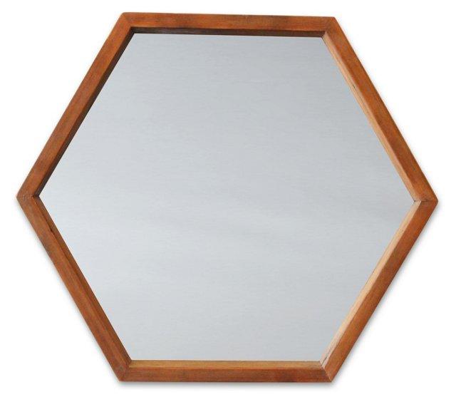 Hive Wall Mirror, Barn Brown
