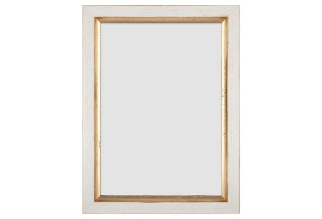 Gold-Lip Frame, 5x7, White