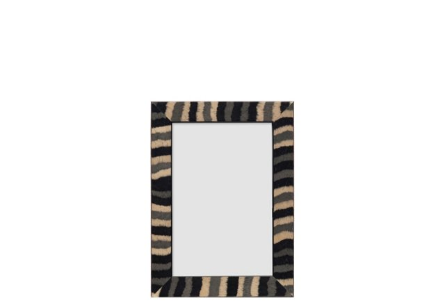 Calzini Frame, 4x6, Black/Tan