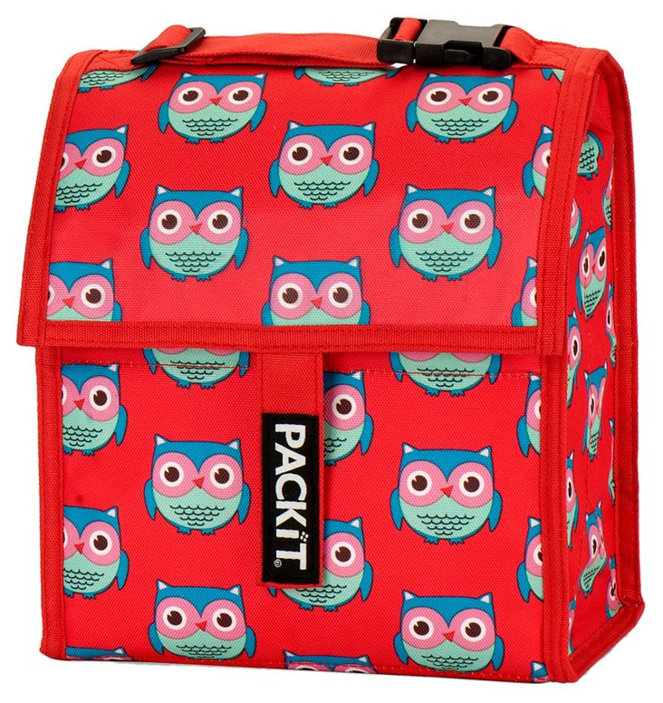 Insulated Lunch Bag, Owls
