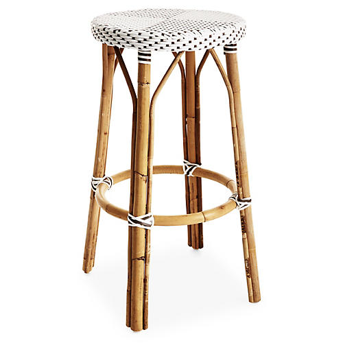 James Barstool, White/Cappuccino