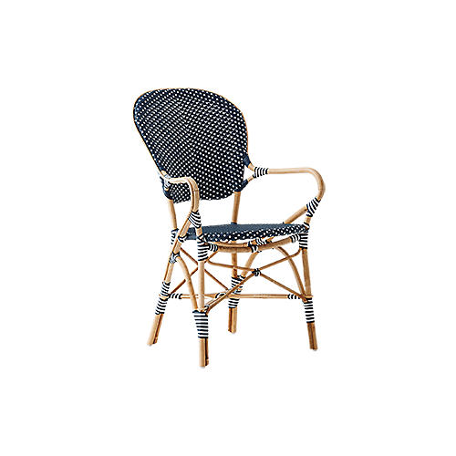 Isabell Outdoor Bistro Armchair, Navy