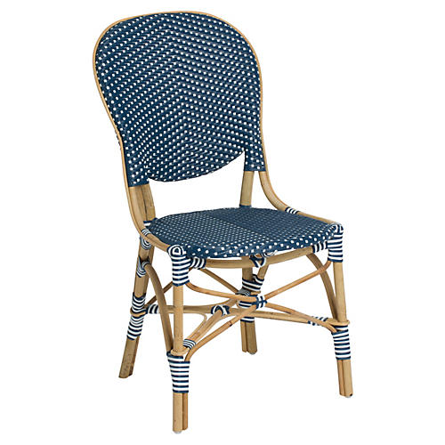 Isabell Outdoor Bistro Side Chair, Navy