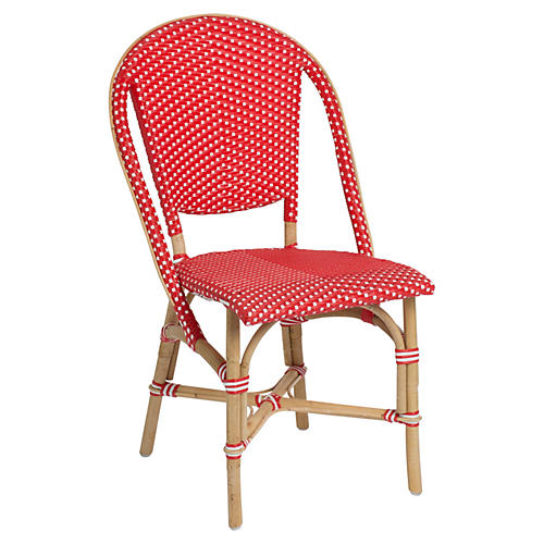 Sofie Bistro Side Chair, Red