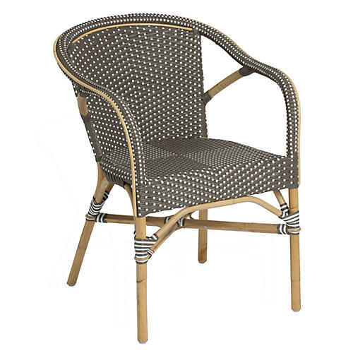 Madeleine Outdoor Bistro Armchair  Caf. Outdoor Furniture   Outdoor   One Kings Lane