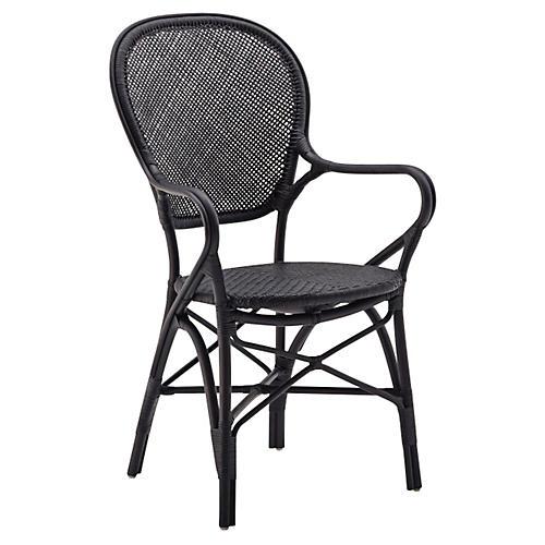 Rossini Indoor Bistro Armchair, Black