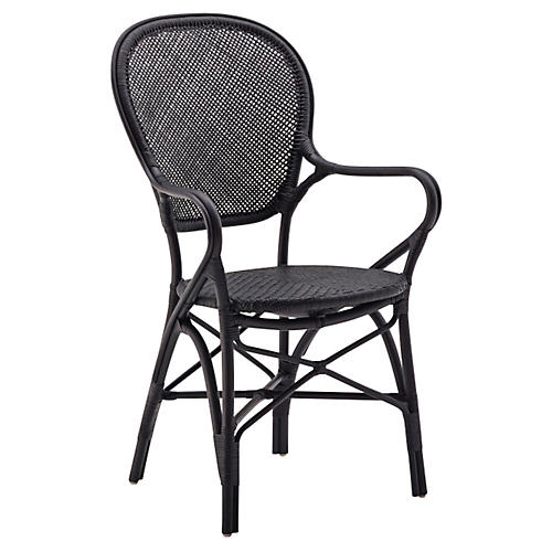 Rossini Indoor Bistro Armchair, Black