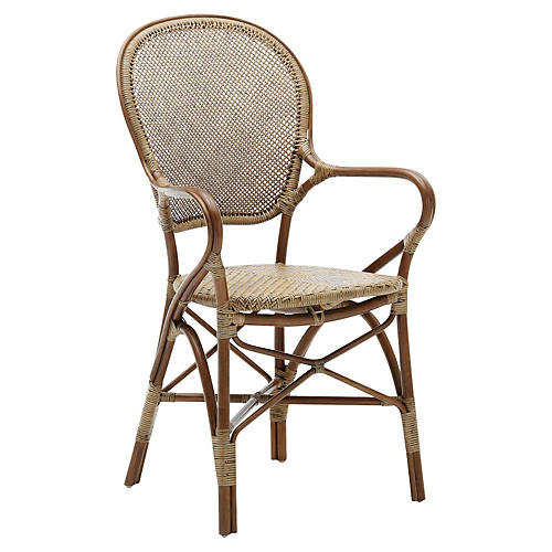 Rossini Indoor Bistro Armchair, Brown