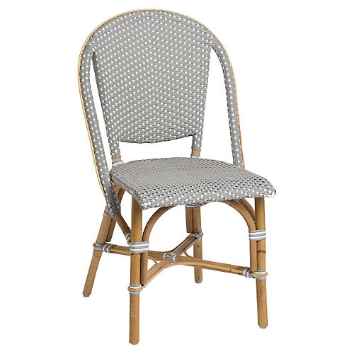 Sofie Outdoor Bistro Side Chair, Gray