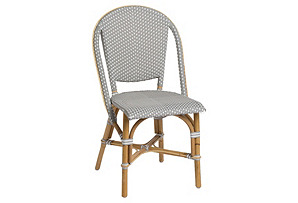 Sofie Outdoor Bistro Side Chair, Gray*