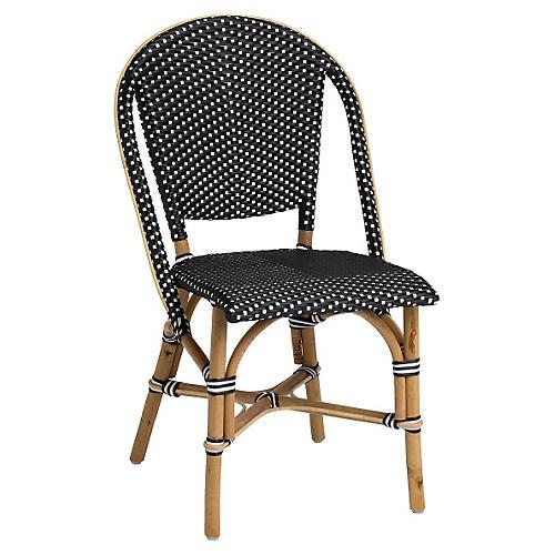 Sofie Outdoor Bistro Side Chair, Black