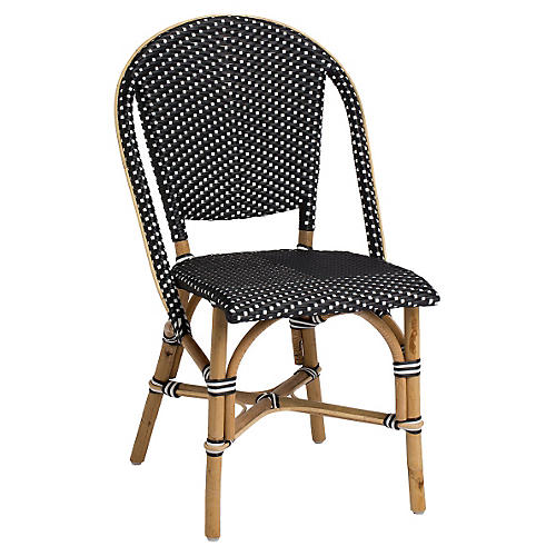 Sofie Bistro Side Chair, Black