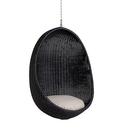 Hanging Egg Chair, Black