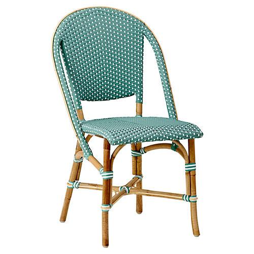 Sofie Bistro Side Chair, Salvie Green/White